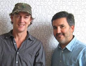 Francesco Taddeucci con Luca Albanese, direttori creativi DDB