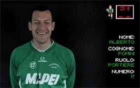Il frame dell'intervista ad Alberto Pomini
