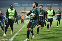 Jeans e Maglietta Troianello dopo il gol  (sassuolocalcio.it)