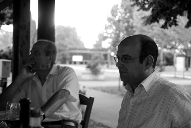 Renzo Sola (ex sindaco DC) e Luca Caselli (in carica, PdL)