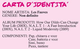 La carta d'identità dei Les Fauves