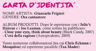La scheda di Giancarlo Frigieri