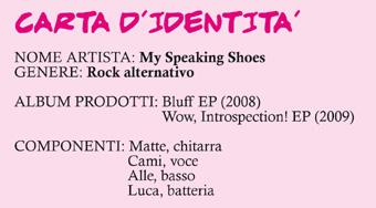 La scheda dei My Speaking Shoes