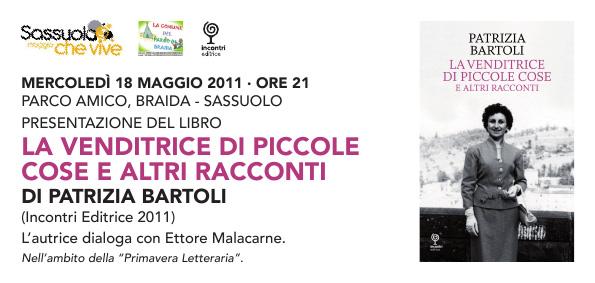 La presentazione de LA VENDITRICE DI PICCOLE COSE, di Patrizia Bartoli