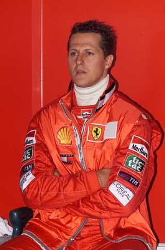 Il tedesco Michael Schumacher